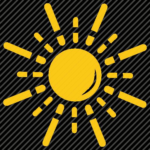 Bright sun, solar sun, sun, sunshine, twinkling sunrays icon - Download on Iconfinder