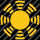 bright sun, cartoon sun, solar sun, sun, sun rays icon