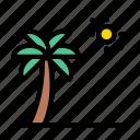 beach, palm, summer, sun, tree