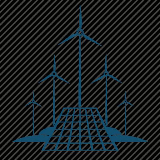 ecology, energy, friendy, generation, making, power, turbine icon