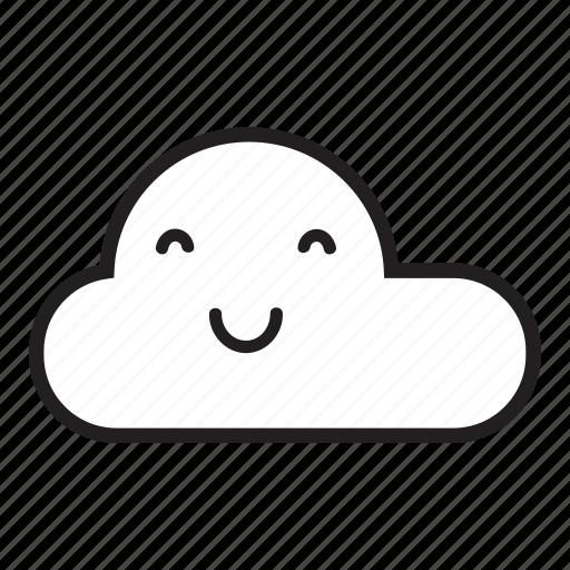 cloud, monsoon, rain, raining, sky, smile, smiling icon