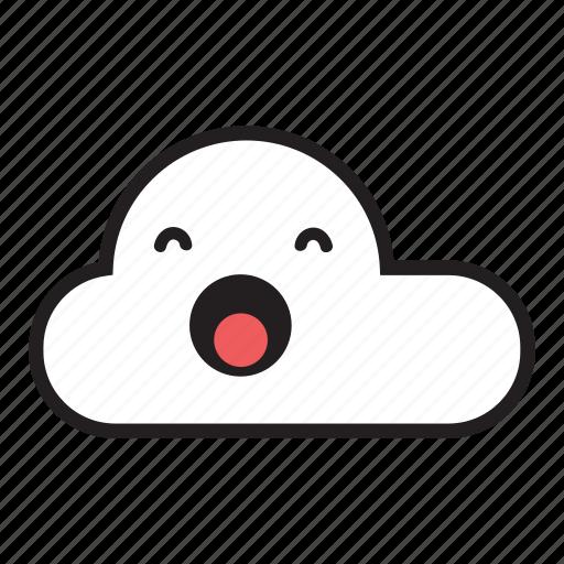 cloud, monsoon, rain, raining, sky, sleepy, yawn icon