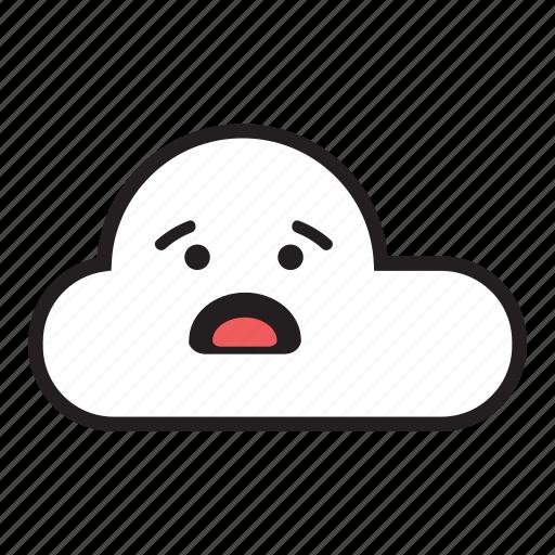 cloud, monsoon, rain, raining, sky, unhappy, worried icon