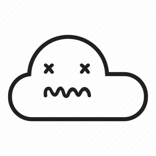 cloud, monsoon, rain, raining, sick, sky, unwell icon