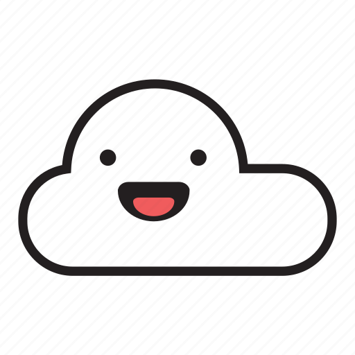 cloud, happy, laugh, monsoon, rain, raining, sky icon
