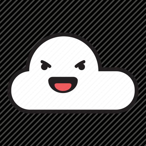 cloud, evil, laugh, monsoon, rain, raining, sky icon