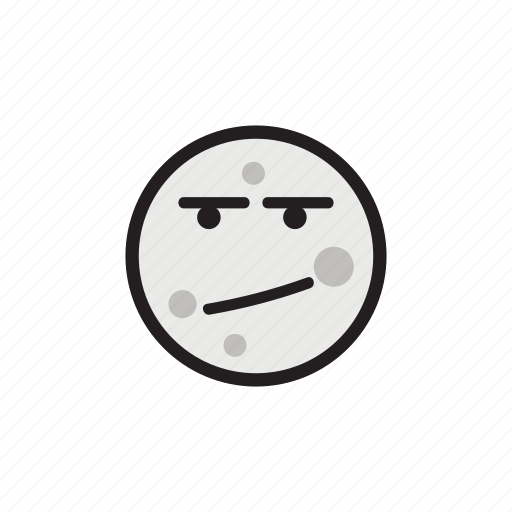 bored, confused, crater, moon, night, satellite, upset icon