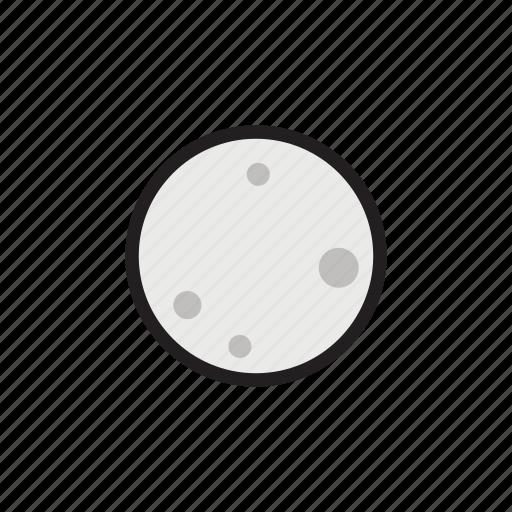 crater, moon, night, satellite, sky icon