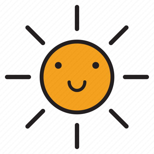 day, rays, smile, smiling, sun, sunshine, yellow icon