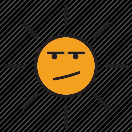 bored, confused, day, sun, sunsunshine, upset, yellow icon
