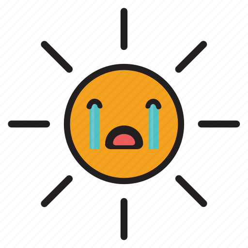Cry, day, rays, sun, sunshine, tears, yellow icon - Download on Iconfinder