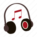 earphones, headphones, music, note, playlist, rap, song icon