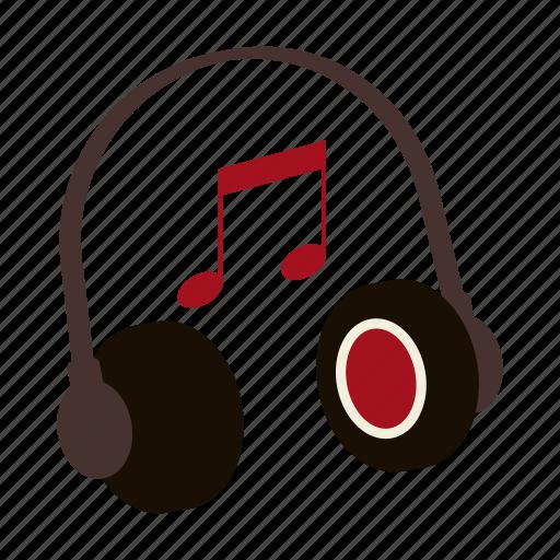 earphones, headphones, music, note, playlist, rap, song icon