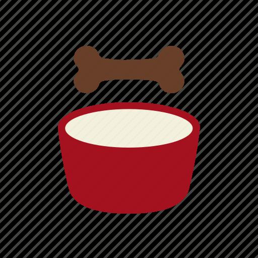 bone, bowl, dog, dog food, feed, pet food, vetrinarian icon