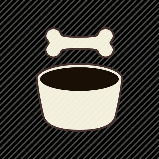 animal, bone, bowl, dog, dog food, feed, pet food icon