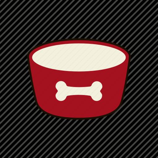 animal, bowl, dog, dog food, feed, pet, pet food icon