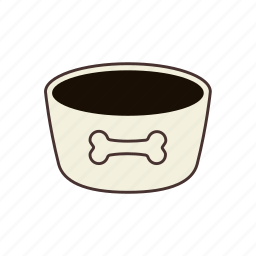 animal, bark, bowl, dog, dog food, pet, pet food icon