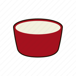 bowl, cook, dish, eat, food, red, soup icon