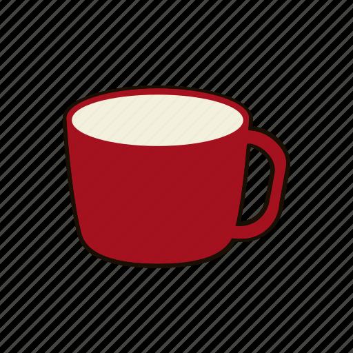coffee, drink, hot chocolate, mug, red, sip, tea icon