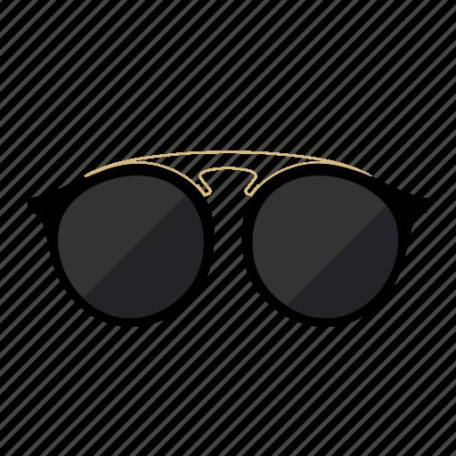 fashion, round, summer, sunglasses icon