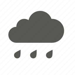 cloud, clouds, cloudy, forecast, heavy, rain, weather icon
