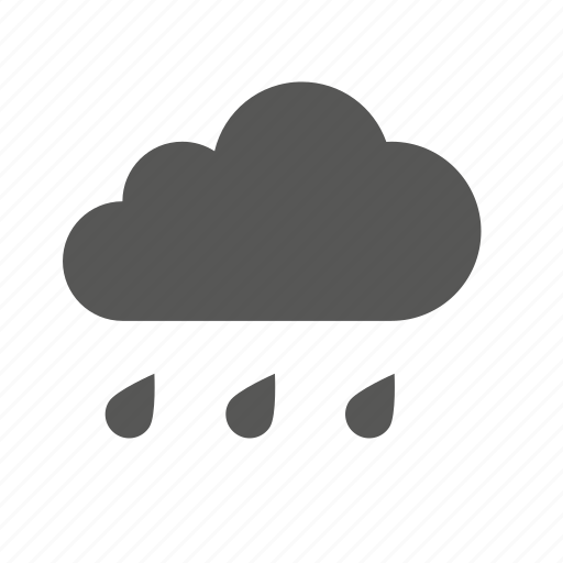 cloud clouds cloudy forecast heavy rain weather icon
