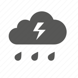 cloud, clouds, forecast, lightning, rain, storm, weather icon