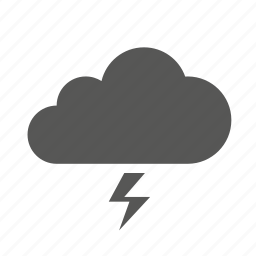 cloud, clouds, forecast, lightning, storm, weather icon