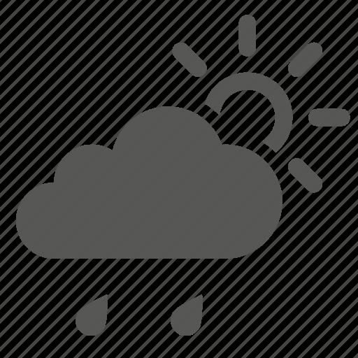 cloud, clouds, forecast, rain, sun, sunny, weather icon