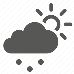 cloud, forecast, rain, snow, sun, weather icon