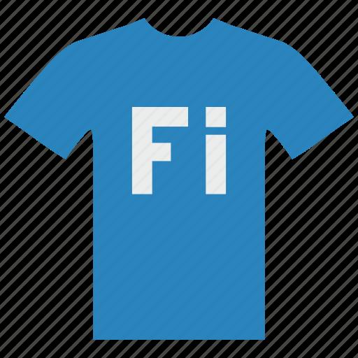 blue, fi, finland, man, suomi, tshirt, wear icon