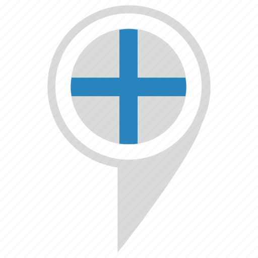 country, finland, map, pointer, suomi icon