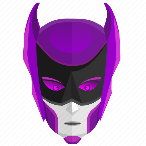 android, avatar, comics, hero, mask, violet icon