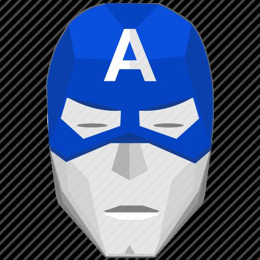 america, avatar, capitan, comics, face, hero, mask icon
