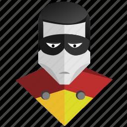 avatar, comics, face, hero, man, mask, robin icon