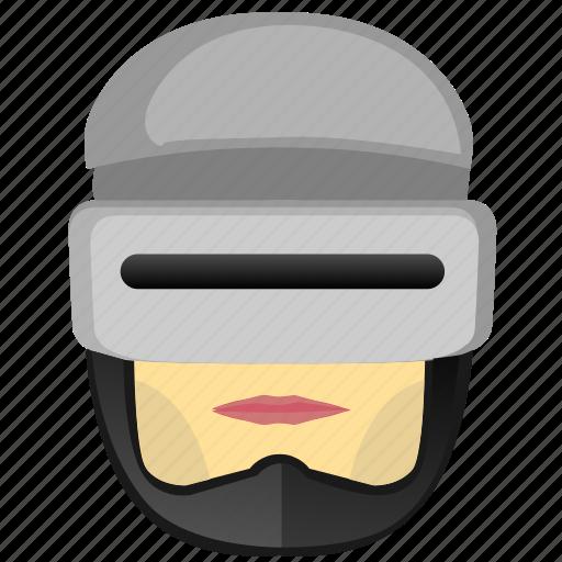 avatar, comics, head, man, police, robocop, robot icon