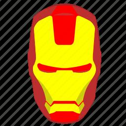 avatar, comics, head, hero, iron, man, skin icon