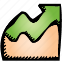 chart, up icon