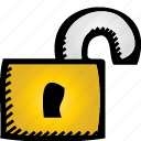 lock, unlock icon