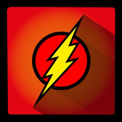 flash, hero, super icon