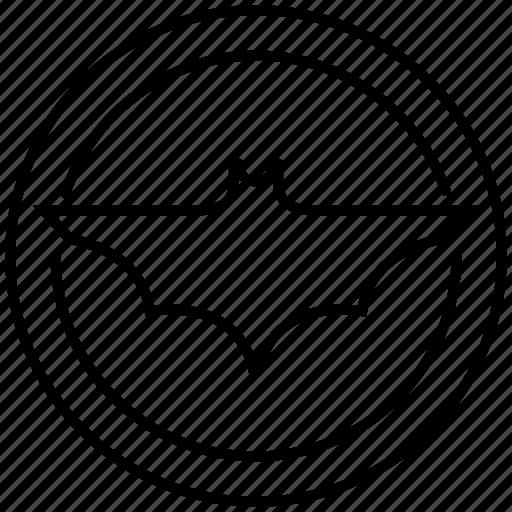 batman, emblem, modern, sign icon