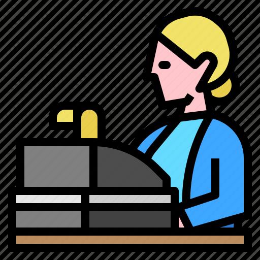 cash, cashier, money, register icon