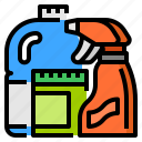 detergent, disinfectant, goods, household icon