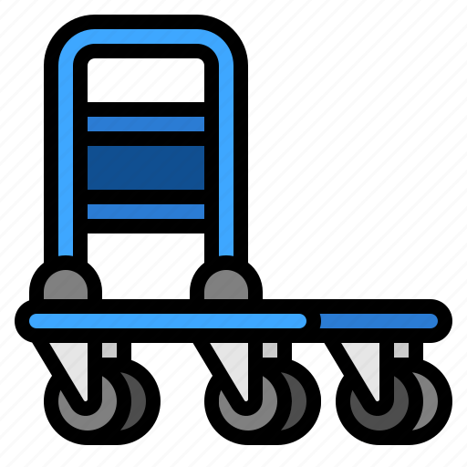 delivery, shipping, transport, trolley icon