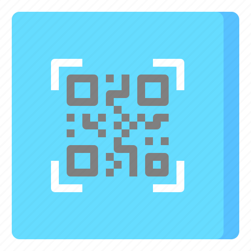 code, label, qr, scan icon