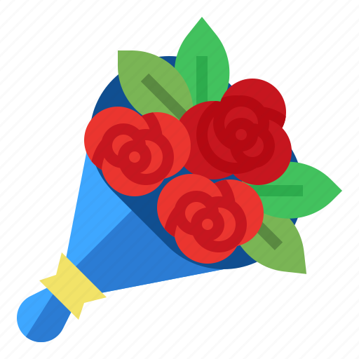 bouquet, delivery, flowers, fresh icon