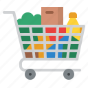 grocery, cart, shopping, supermarket icon