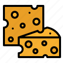 cheese, cheeses, food, foodstuff icon