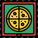 box, fast, food, junk, pizza icon