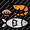 fish, food, seafood, supermarket